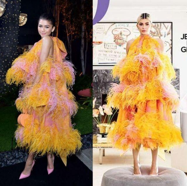 Зендая и Кайли Дженнер в платье Marc Jacobs