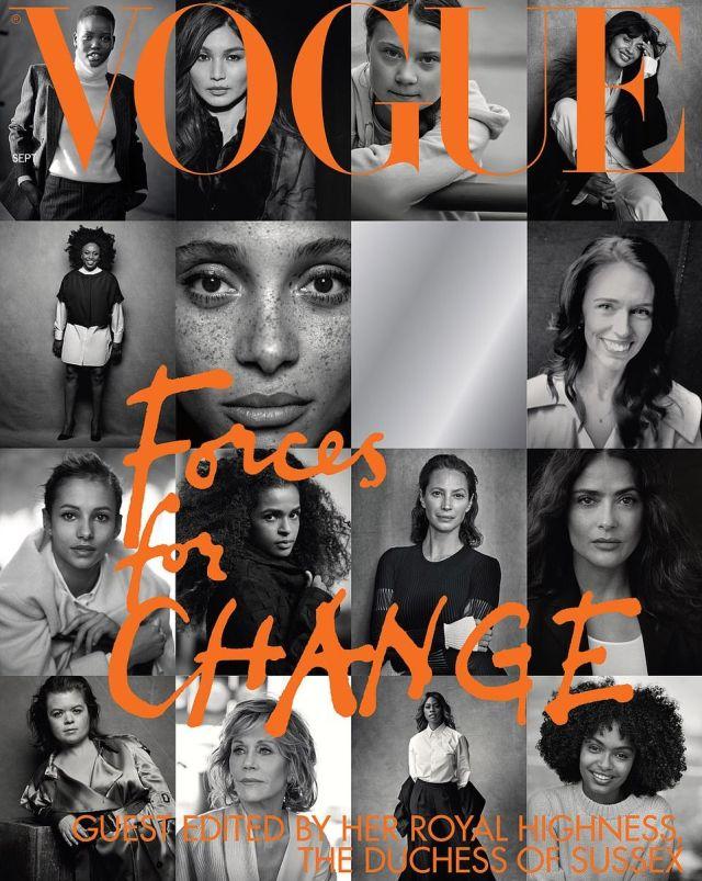 Обложку номера Vogue с Меган Маркл обвинили в плагиате