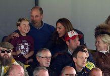 Принц Уильям с семьёй посетил футбольный матч