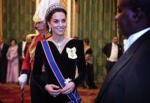 На дипломатическом приёме Кейт Миддлтон снова была в тиаре принцессы Дианы