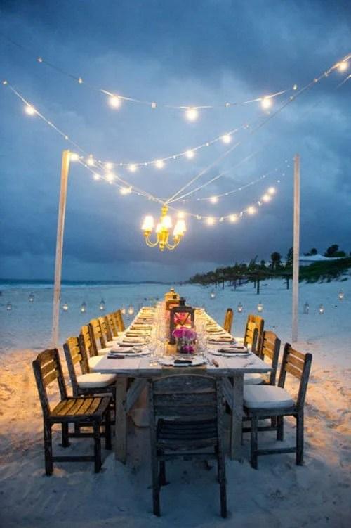 Beach Theme Wedding Reception