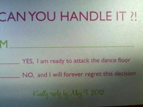 Hilarious Cards Rsvp Wedding