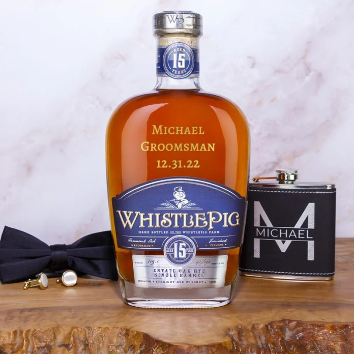 personalized whiskey bottle