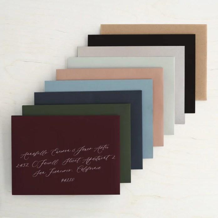 minted invitation envelopes