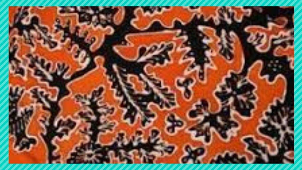 Foto : Motif batik pucuk rebung edit by. Canva