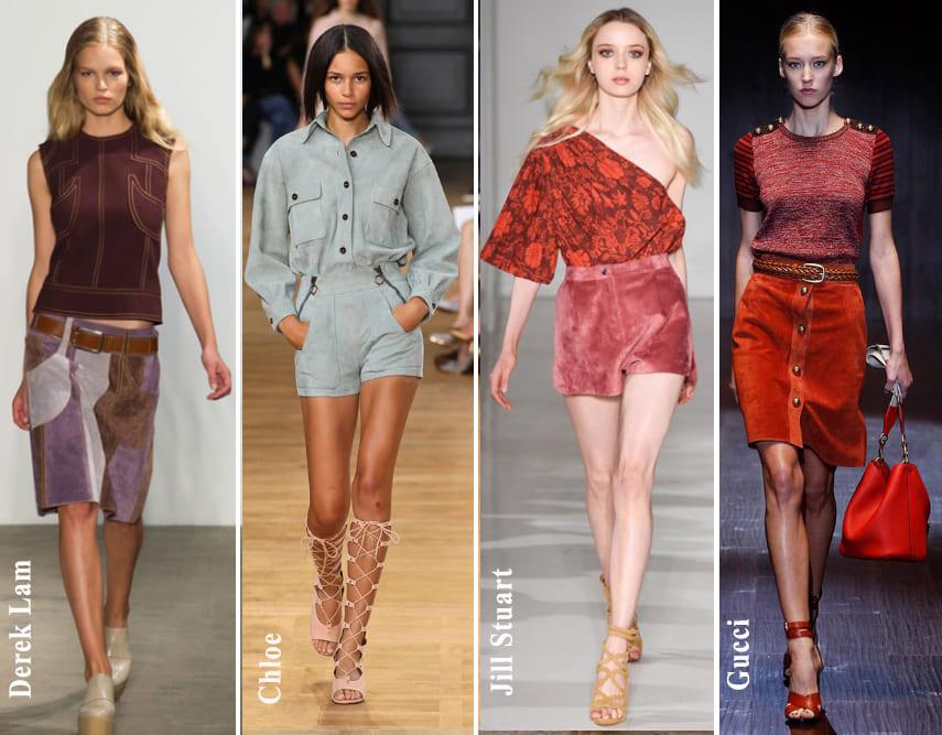 μόδα άνοιξη καλοκαίρι 2015 suede fashion womanoclock