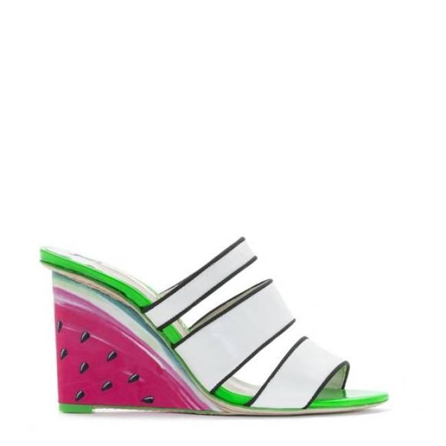 Sophia Webster Brooke Watermelon Pink Wedge
