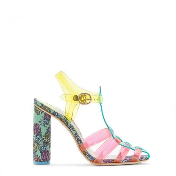 Sophia Webster Rosa Pineapple Green Sandal