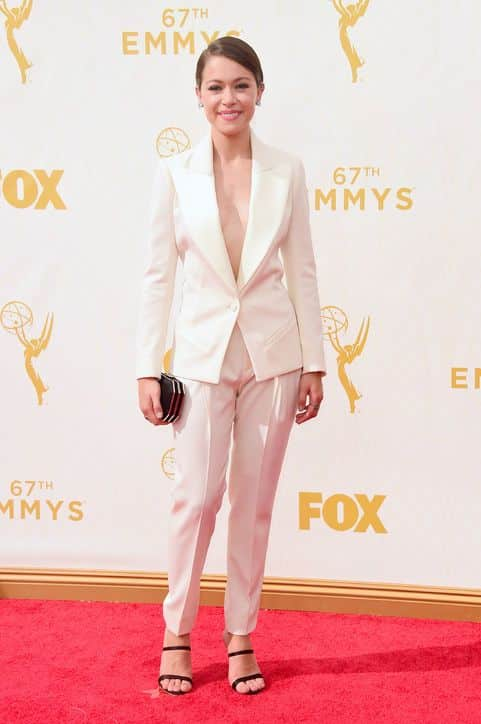 Bouchra Jarrar suit and Sophia Webster shoes