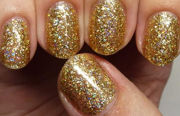 χρυσα-glitter-nails