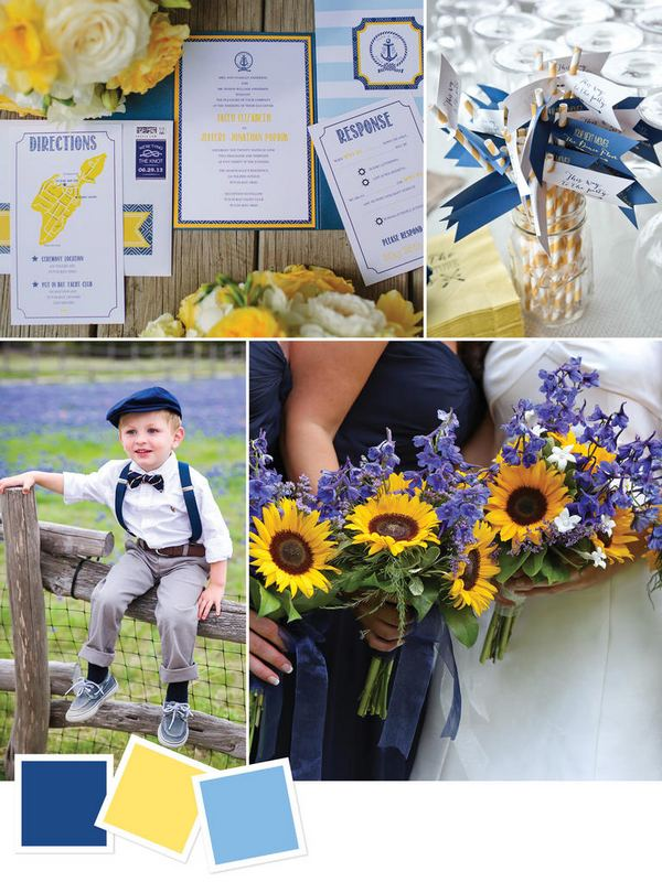 Navy + Yellow + Blue