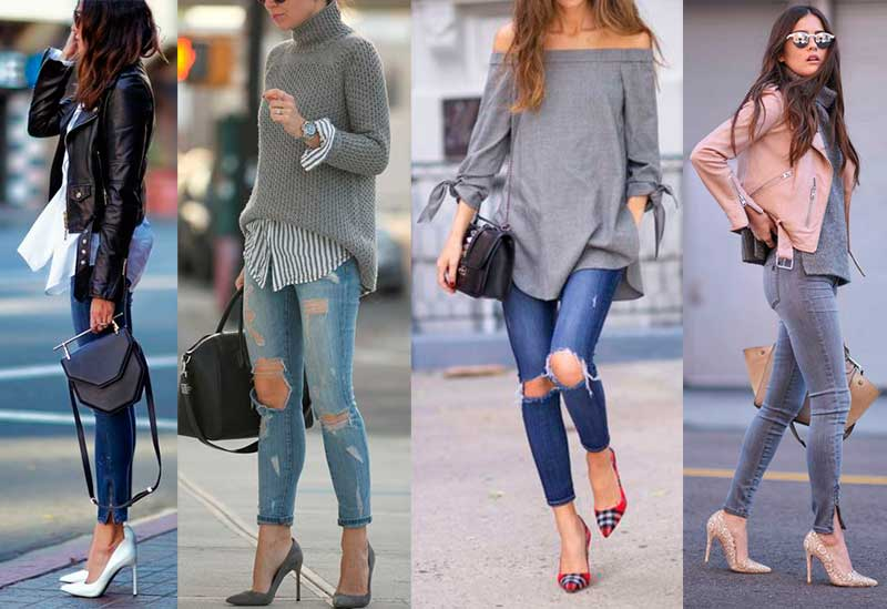 Image result for τζιν με σκισιματα outfit