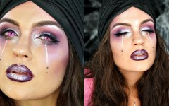 Glam αποκριάτικο μακιγιάζ για μάντισσα
