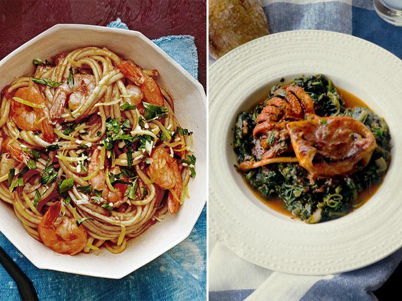φαγητά με θαλασσινά