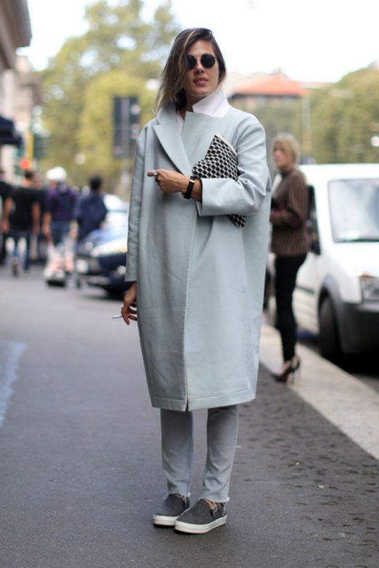 Stylish Outfits με Slip on Sneakers