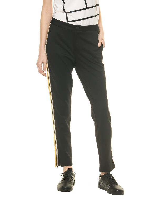 Γυναικείο Παντελόνι μαύρο με ρίγα