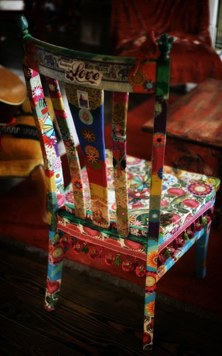 μεταμόρφωση παλιάς καρέκλας