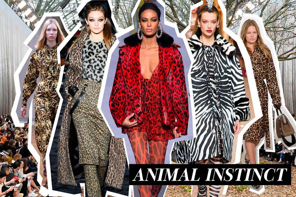 Μόδα φθινόπωρο χειμώνας 2018-2019 animal prints