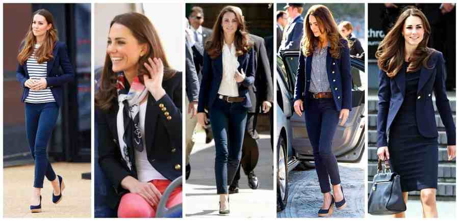 Princess Kate Navy Blazers