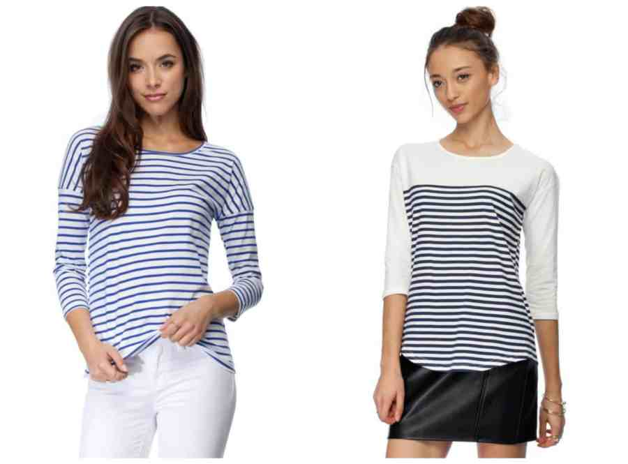 The Iconic Stripe tees