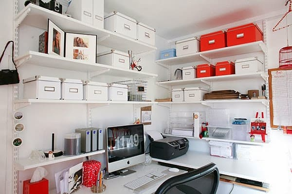 home-office-with-ikea-storage-boxes