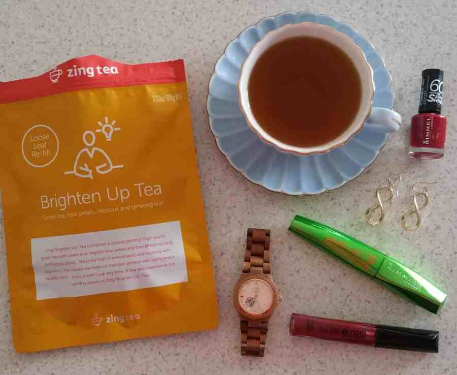 Zing Tea flatlay
