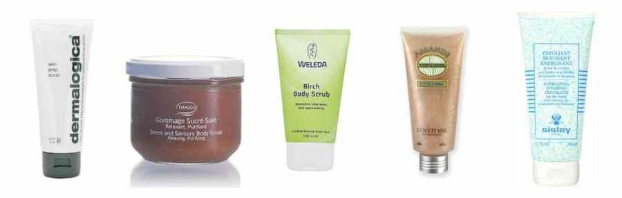 Skincare exfoliant scrub