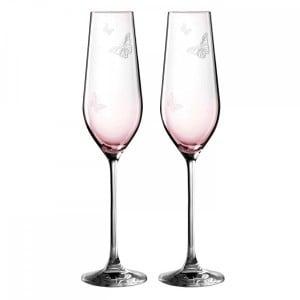 miranda kerr pink champagne glasses