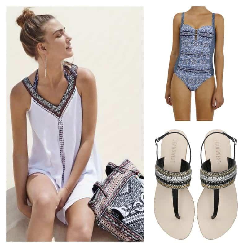 Jeans west beach wear swimwear dress