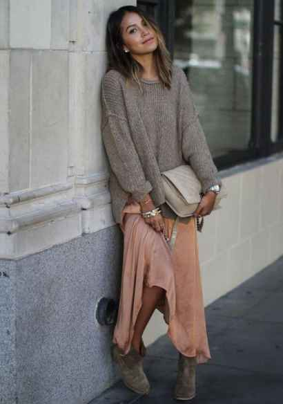 maxi skirt ankle boots