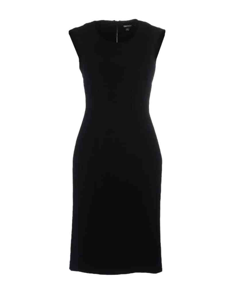 DNKY Black knee length dress