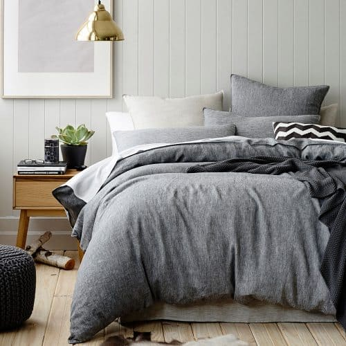 grey doona set bedding bedroom