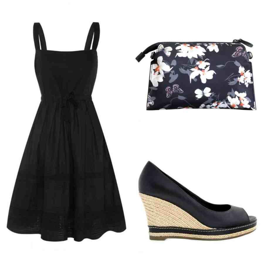sandbag-dress-wedge-heels-clutch