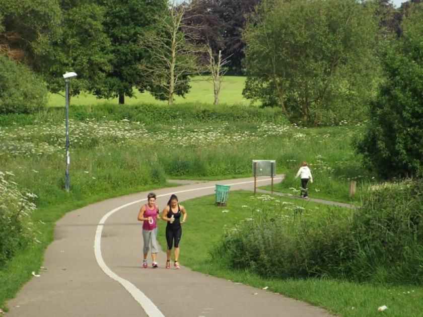 jogging walking running park