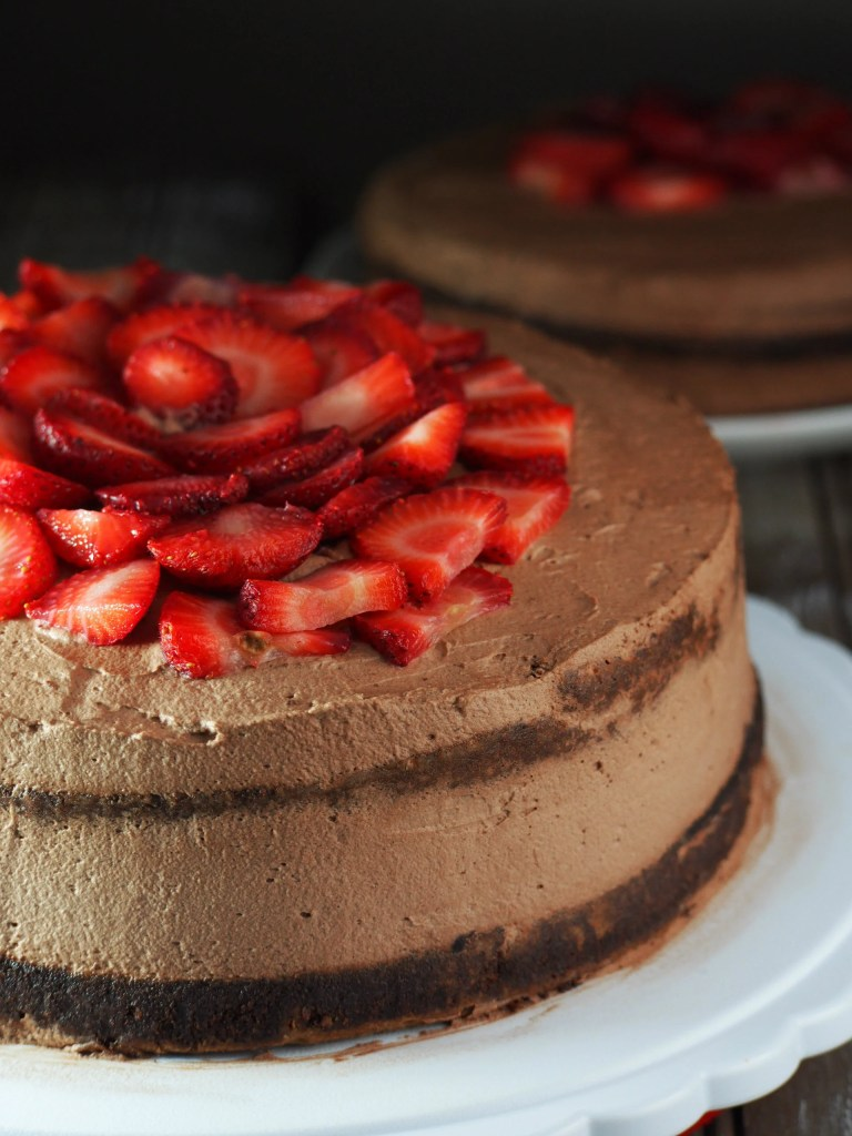 Chocolate Cake with Chocolate Whipped Cream Icing