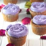 Ube Cupcakes with Ube Swiss Meringue Buttercream