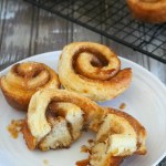 These morning buns are flaky and buttery croissants rolled with flavorful filling of cinnamon, sugar, butter and orange zest. They are amazing snacks, breakfast or desserts.