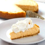 This Pumpkin Cheesecake is a simple recipe that produces a lightly indulgent cheesecake. It has just the right amount of pumpkin flavor that blends beautifully with the rich cream cheese.