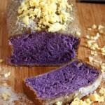 Ube Taisan (Ube Cake with Shredded Cheese and Sugar)