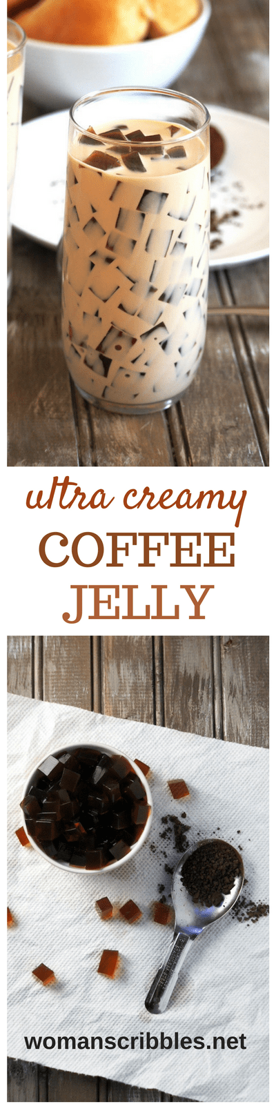 Coffee Jelly is a delicious coffee-based dessert made of coffee-flavored jelly cubes in a thick and delightful coffee-infused cream. #coffeejelly #coffeedesserts