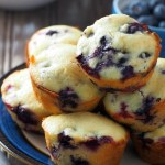 These Blueberry Muffins are delectable bites of melt in your mouth cake crumbs with a hint of freshness from the soft berries.