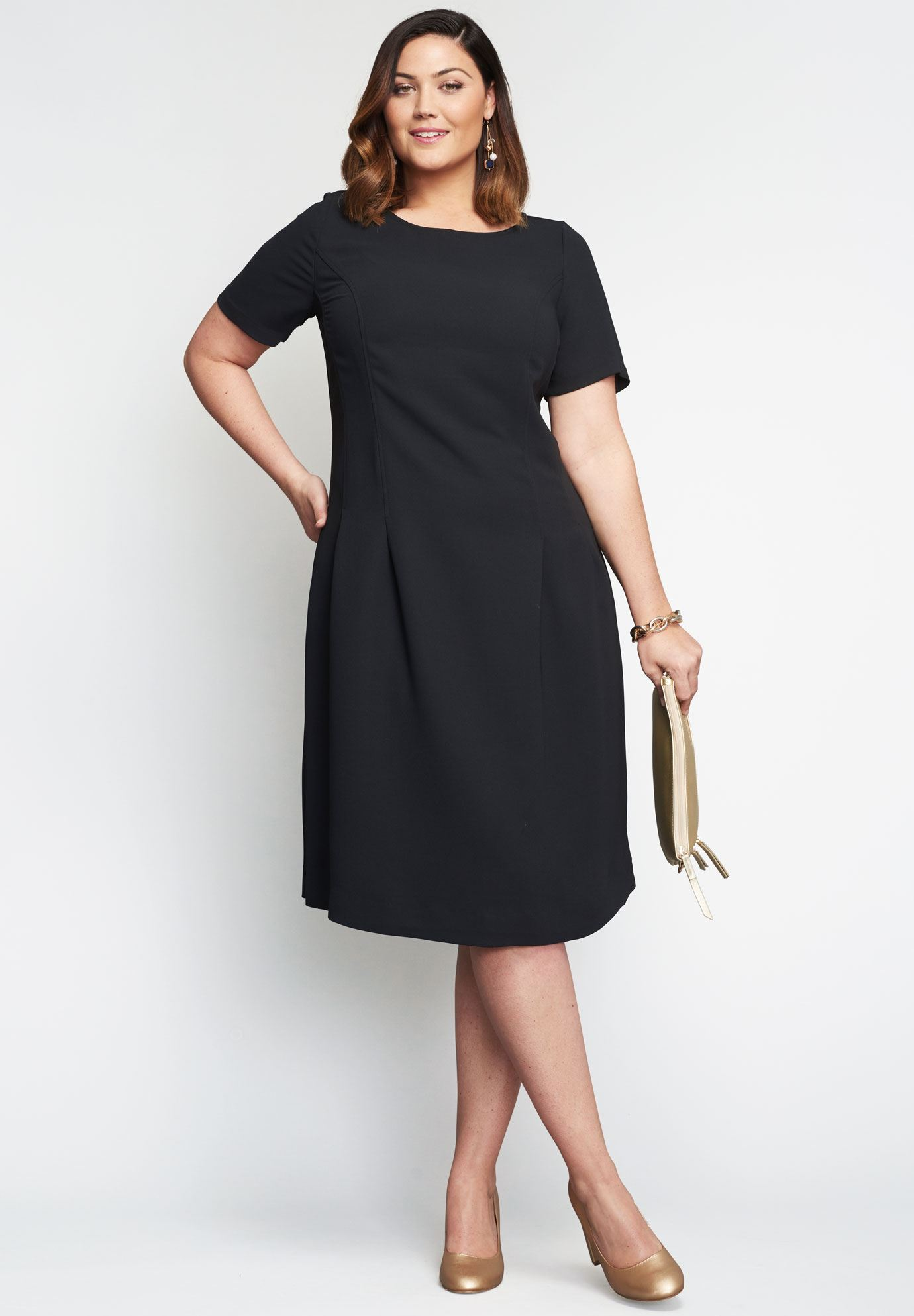 Fit  Flare Dress  Plus Size Casual Dresses  Woman Within