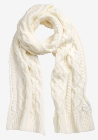 Cable Knit Scarf by ellos | Plus Size Scarves & Gloves ...