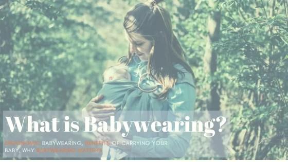 what is babywearing