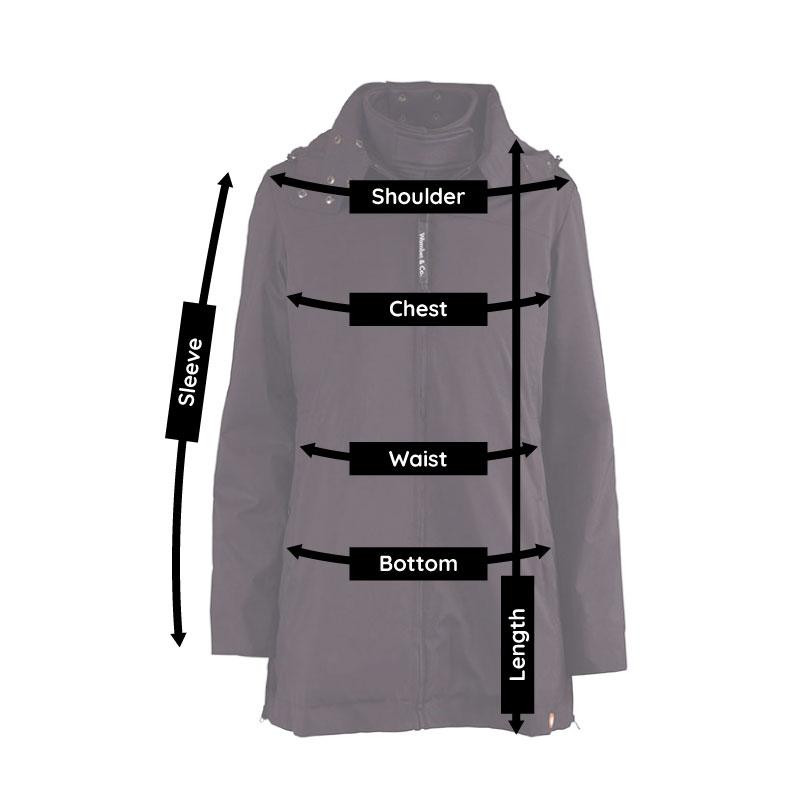 Numbat babywearing coat size guide