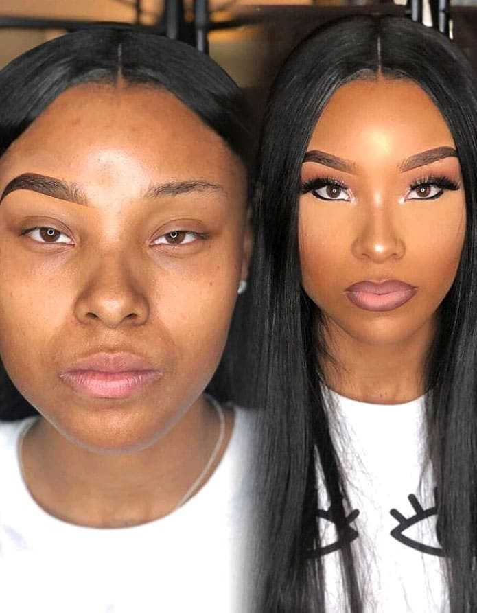 Makeup Before And After Black Saubhaya Makeup