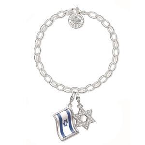 צמיד מגן דוד ודגל ישראל