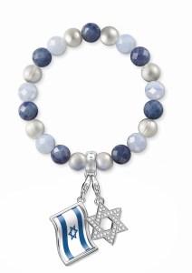 צמיד כחול לבן עם צארמז של תומס סאבו