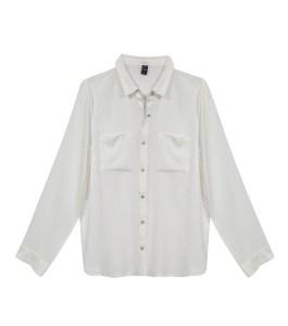 חולצה מכופתרת לבנה לנשים של רשת לי קופר