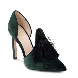 נעל עקב קטיפה ירוקה - ניין ווסט